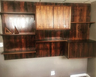Rare Rosewood Cado Wall unit mid century modern, early