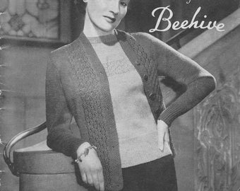1940s Trellis Pullover and Cardigan