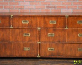 Pick your color! Henredon Campaign Dresser Mid Century Vintage Furniture