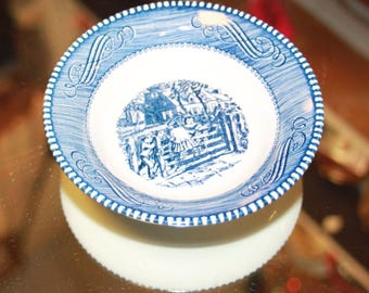 Currier and Ives Desert Bowl