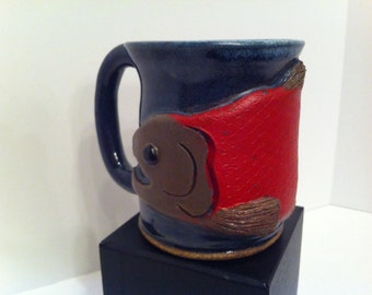 Spawned-Out Kenai Sockeye Salmon Mug - Pottery