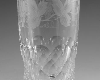 EDINBURGH Crystal - LOCHNAGAR Cut - Tall Tumbler Glass / Glasses - 4 5/8""