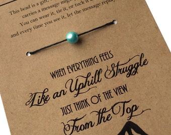 MOTIVATION STRENGTH ENCOURAGEMENT Inspirational Bracelet