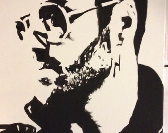 George Michael Acrylic painting 16 x 20 - free shipping