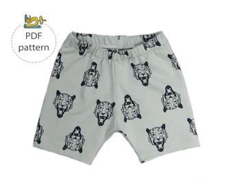 Baby shorts sewing pattern, Basic shorts pattern, pdf sewing pattern, baby bloomers pattern, easy sewing pattern, Baby sewing pattern
