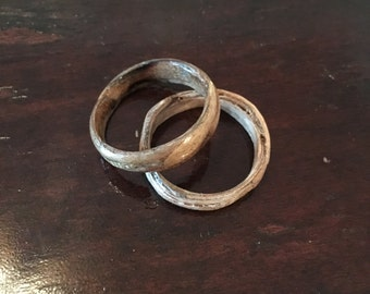 Handmade wood rings