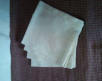 Set of four vintage linen napkins