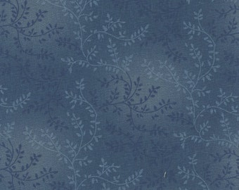 Blue fabric, Extra wide quilt backing fabric - tonal vineyard, 108 inch wide,  100% Cotton quilting fabric
