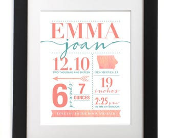 Baby Announcement Print