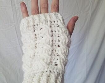 Crochet Cable Fingerless Mitts/Gloves