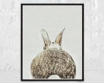 Rabbit Printable Art, Printable Nursery Bunny, Woodland Nursery Rabbit Print, Woodlands Art Set, Woodlands Decor, Baby Rabbit Print Decor