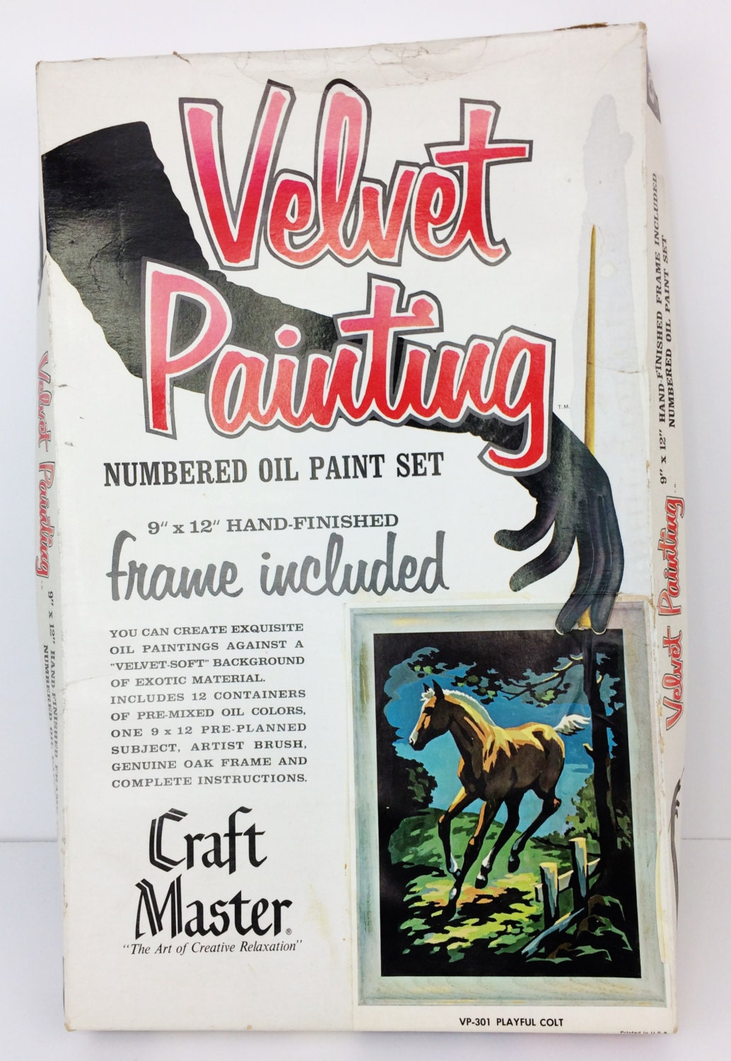 Craft master paint by number kits - Vintage 1966 Craft Master Black Velvet Paint By Number Kit Playful Colt Horse A1 Sold By Retrobotstore 6 95 Shipping