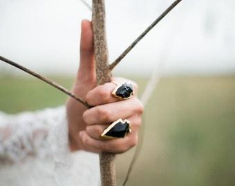 Wild Blackstone Arrowhead Rings