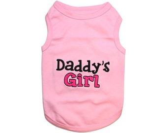 Daddy's Girl Dog T-Shirt, Dog Clothes, Pet Shirts