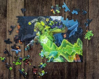 Personalized Lucio Overwatch Jigsaw Puzzles, Custom Name Photo Puzzle, Great Gift for a Gamer! Overwatch Game Puzzles