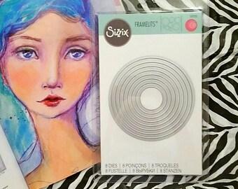 Sizzix Framelits 8 pc Die Set ~Circles~ 557551