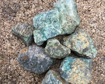 Rough Chrysocolla Stone