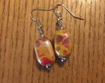 Glass earthtone earrings