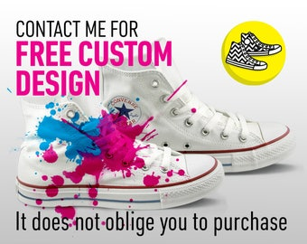 Free custom design order for your future personalized converse sneakers
