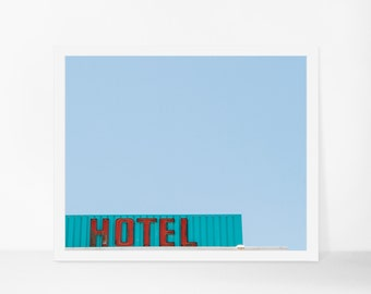 Retro Hotel Sign Printable Photograph, Las Vegas Printable Art, Minimalist Old Vegas Instant Download, Printable Poster, Large Wall Decor