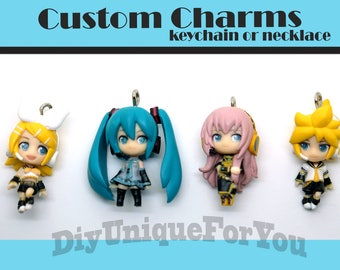 Limted Edition Vocaloid Custom Charms **color doesn't fade**
