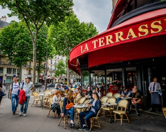 Paris Cafe, Paris Photography, Architecture Art, Fine Art Photography, French Home Decor, Paris Print, Paris Wall Art, Cafe, Photography