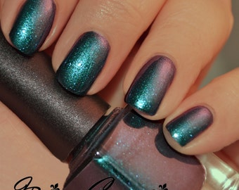 Zydeco - Blue Green Red Multichrome Sparkle Nail Polish