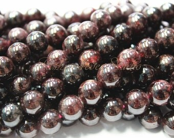 Red Garnet Beads, 6mm 8mm 10mm, Full Strand 15.5 inches, Gemstone Beads, Beading Suppliers, Jewelry Suppliers