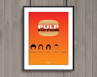 PULP FICTION, minimalist movie poster