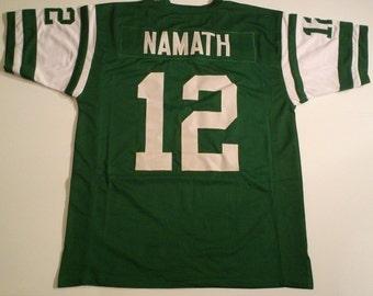 New York Jets Joe Namath UNSIGNED CUSTOM Made Green Jersey