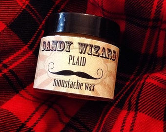 Plaid scented Firm Hold Moustache Wax