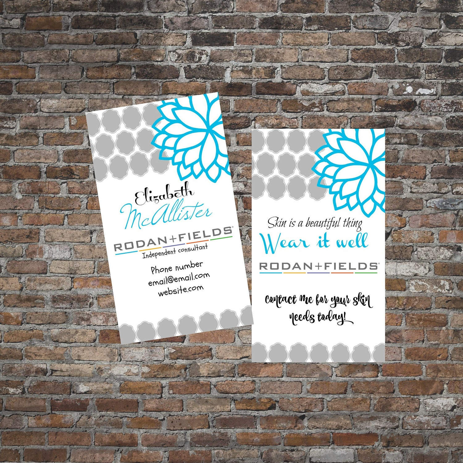 rodan fields business cards double sided your information