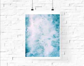 Ocean Waves || Tropical Digital Print
