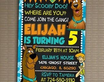 Scooby Doo Invitation, You Print Invitation, Scooby Doo Birthday, Scooby Doo Invite, Scooby Doo Birthday Party Invite, Scooby Doo Party