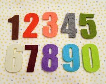 Felt Numbers - 20pcs