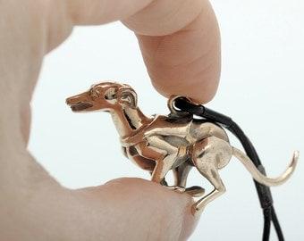 Vakkancs Greyhound bronze 3d keychain