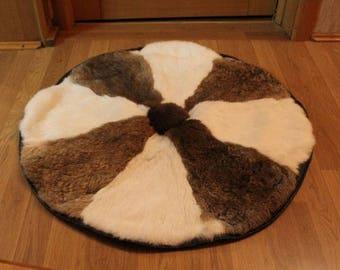 Mat bedside rabbit fur