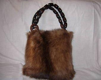 Bag made of sable fur