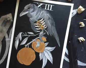 Tarot Card Painting - XIII Death