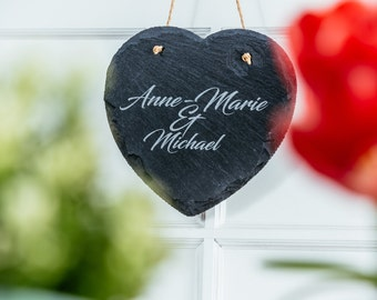 Personalised Slate Heart for any occasion