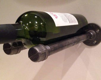 Wine Rack Industrial Black Pipe Home Decor and Design