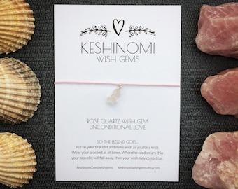 Gift for her, Wish bracelet, pink bracelet, gift for girlfriend, rose quartz bracelet, yoga bracelet, healing crystals, crystals for love
