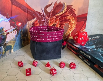 The Ranger - Red and Gray - Large Dice Bag