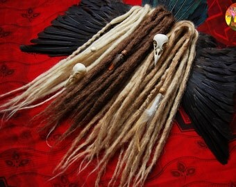 10 DE - 50 DE synthetic double ended natural look dreads READY to shipping
