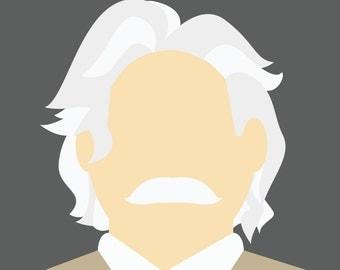 Minimalist Albert Einstein