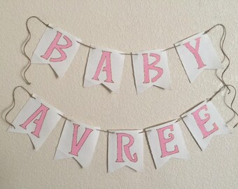 Personalized Burlap Pennant Sign