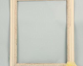 16x20 White Distressed Frame