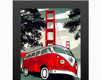 SF Bus Travel Poster