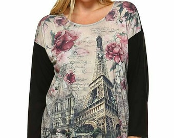 Paris themed Top