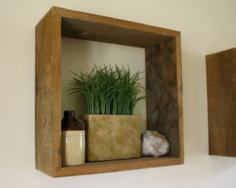 Rustic Floating Box Shelf - Rustic Centerpiece - Rustic Barnwood - Shadow Box Shelf - Multi-purpose Storage Box